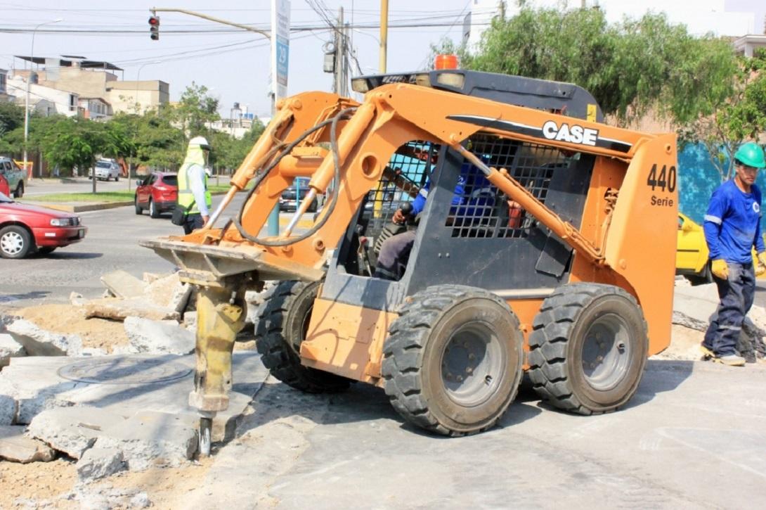 Empezaron obras en las avenidas Del Aire, San Luis y Rosa Toro