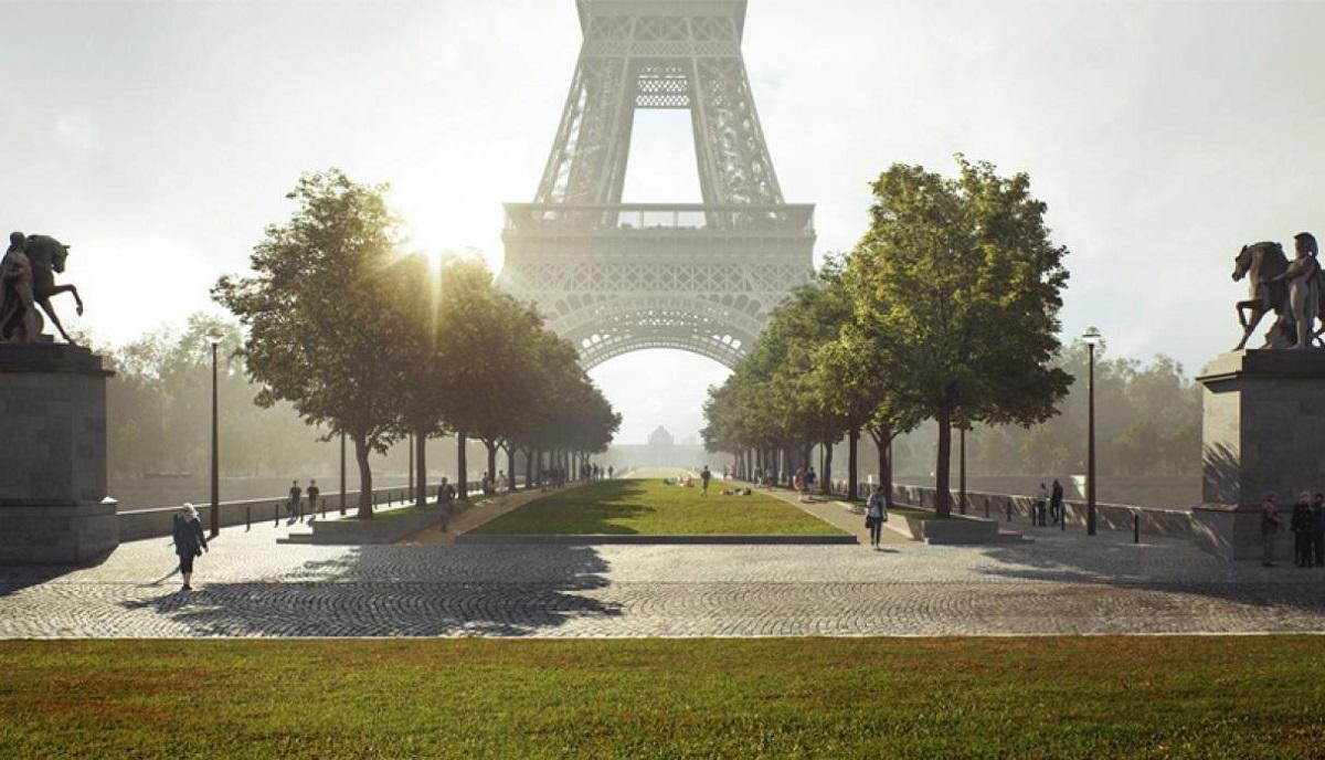 Planean construir un parque que cambiará la imagen de la Torre Eiffel