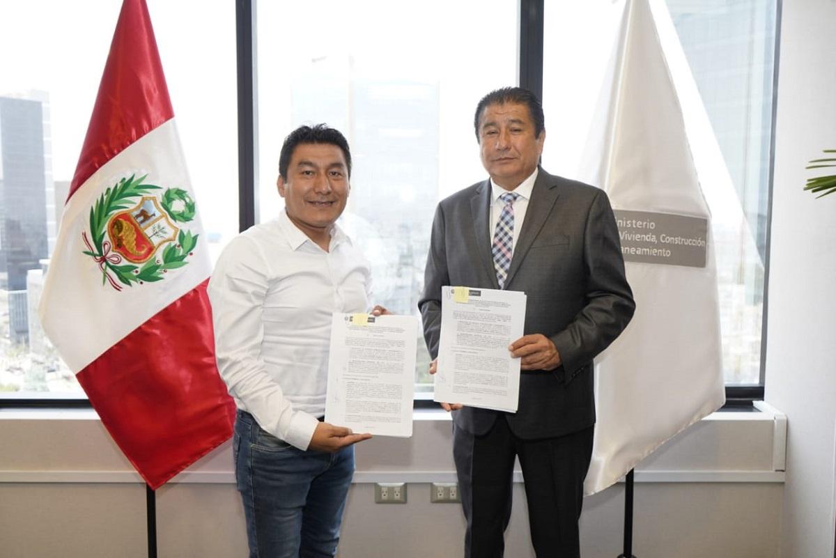 MVCS firma convenio con municipio de Ate para construcción de espacios públicos en Huaycán