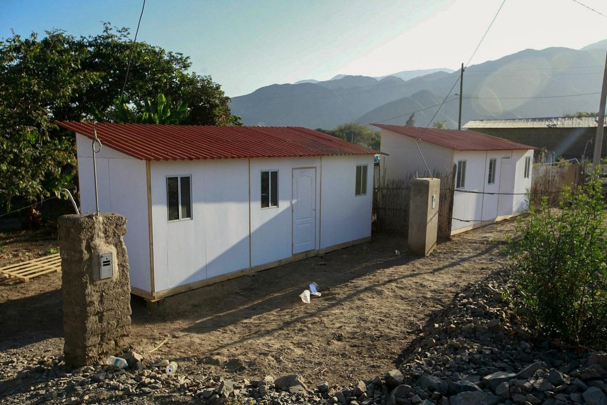 MVCS envía 92 módulos temporales de viviendas a zonas de emergencia