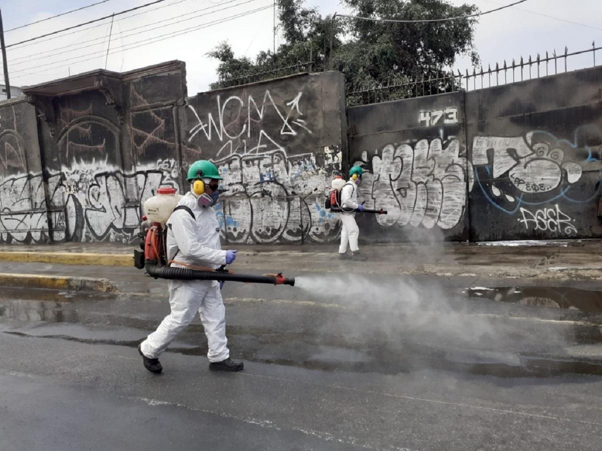 Municipalidad de Lima realizó desinfección en barrios de Mirones Bajo y Monserrate