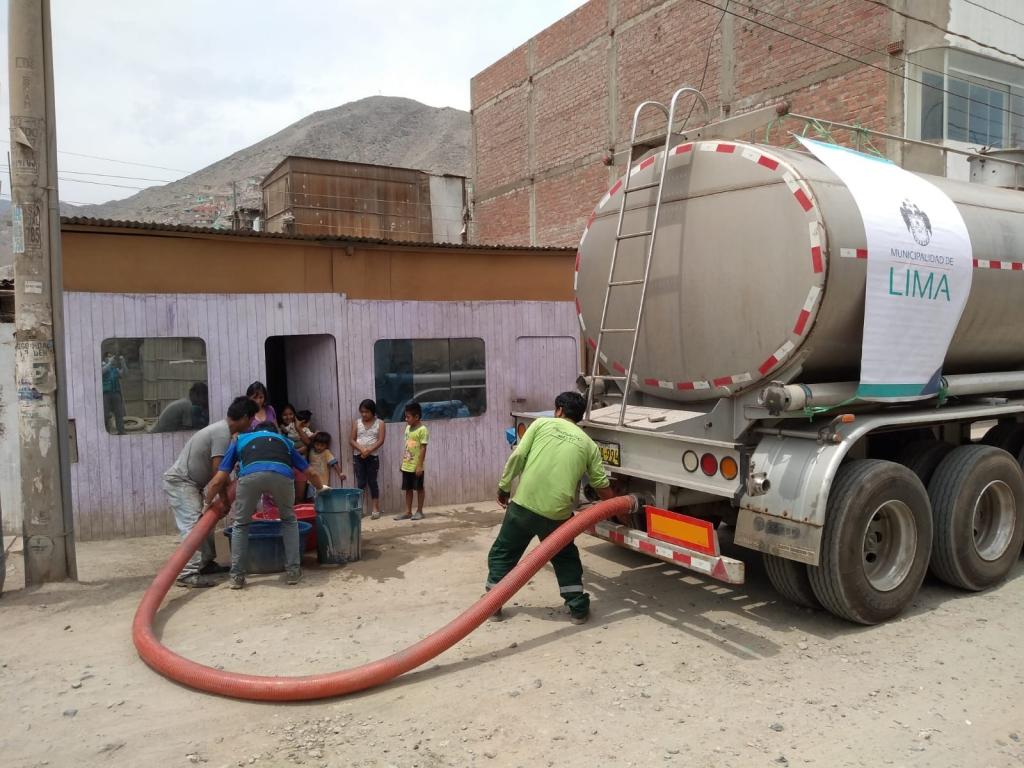 MML llevó más de un millón y medio de galones de agua a 12 distritos