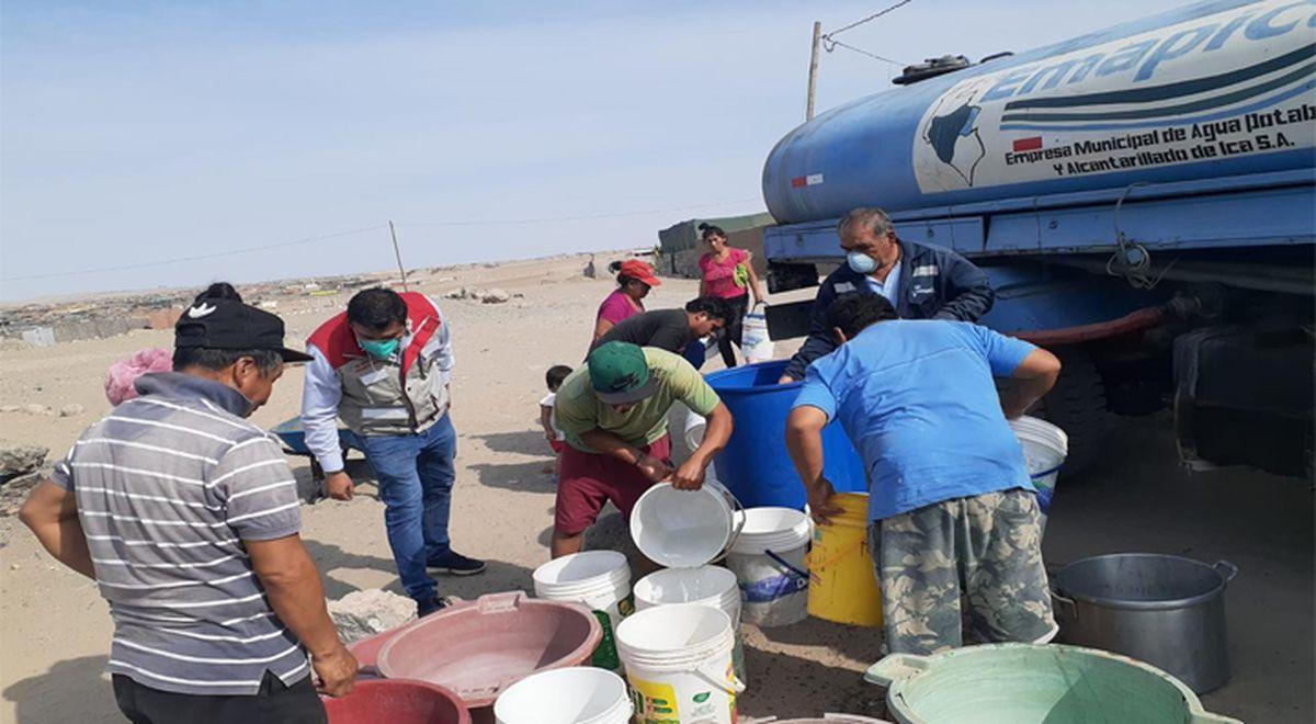 Municipalidad de Ica entregó más de 600.000 litros de agua potable a asentamientos humanos
