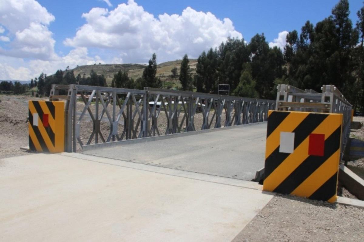 Cajamarca: Instalarán puentes modulares para mejorar la conectividad vial regional