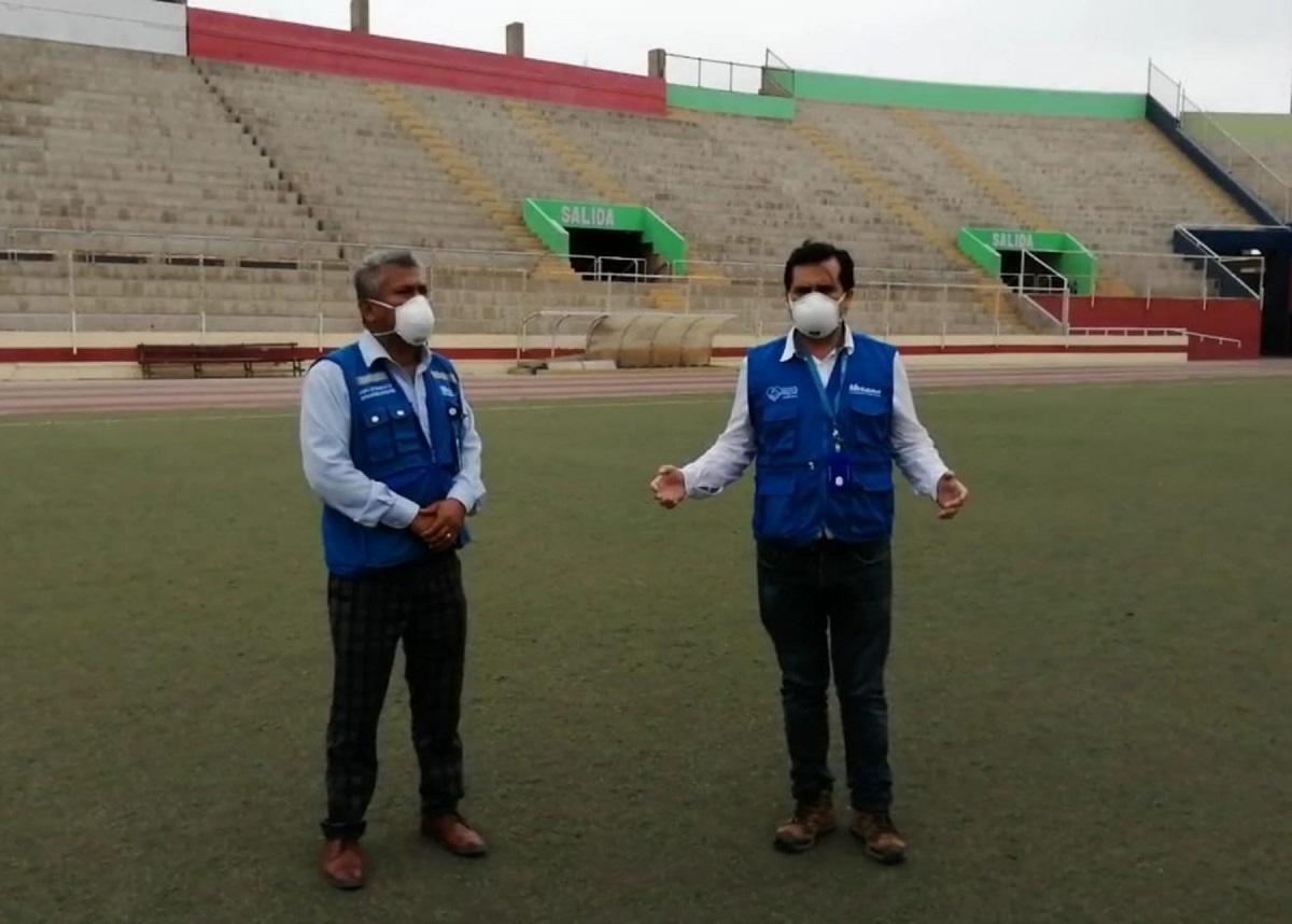 EsSalud inicia instalación de un hospital temporal en el estadio de Chimbote