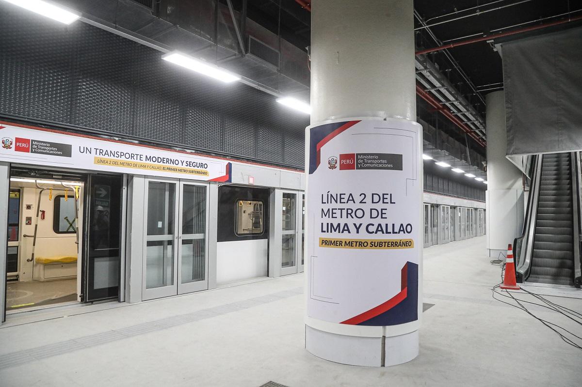 Tres estaciones de la primera etapa de la Línea 2 del Metro tienen un 90% de avance